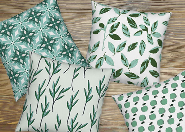 Shop trending mint and emerald fabric, wallpaper and gift wrap themes