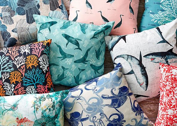 Shop trending coastal inspired fabrics, wallpapers and gift wrap