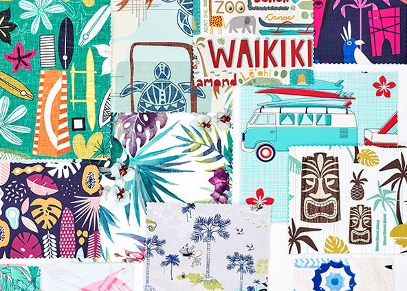Shop trending Hawaiian fabrics, wallpapers and gift wrap
