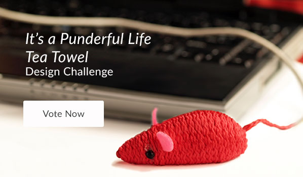 See the It's a Punderful Life Tea Towel Design Challenge