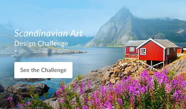 See the Scandinavian Art Design Challenge