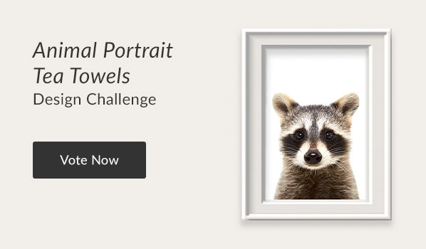 See the Animal Portrait Tea Towels Design Challenge