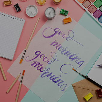 Hand Lettered Tea Towel Design Challenge