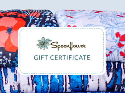 Spoonflower Fabrics and Gift Certificate