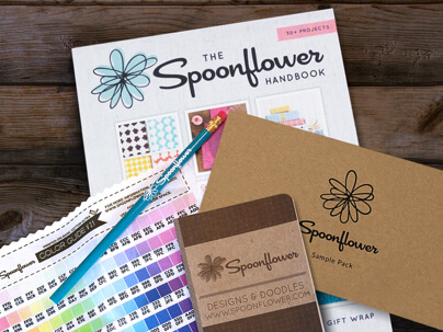 Items in the Spoonflower Welcome Pack