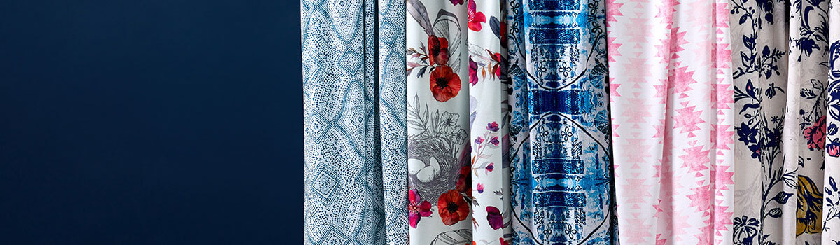 A variety of Spoonflower fabrics