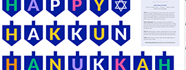 Handmade Hanukkah: Double-Sided Dreidel Bunting design