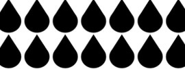 Raindrop black and white design